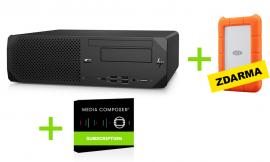 HP Stanice Z2 + Avid Media Composer (2roky) + ZDARMA: Externí disk 1TB